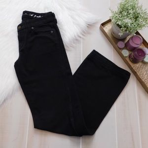 7 For All Mankind Black Flare A Pocket Jeans